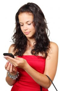Customers accessing business website on mobile phones