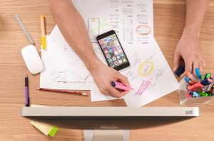 Planning a website design for mobile phones